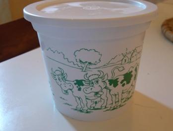 フランスのクリーム容器(牛の絵がポイント)