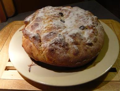 フランス酵母パン焼きあがりデコレーション写真