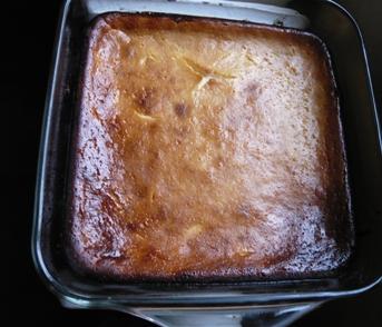 ベークド・チーズケーキ焼けたところの写真