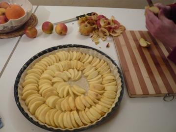 フランス風リンゴのタルト作り方写真