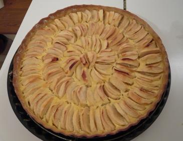 フランス風リンゴのタルト出来上がり写真