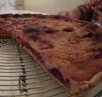 クエッチのタルト焼き上がり写真Tarte aux quetches