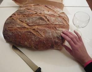 フランスの巨大田舎パン写真