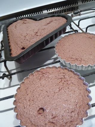 チョコレート・ケーキ焼きあがり写真