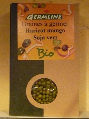 オーガニック豆もやしの種の写真