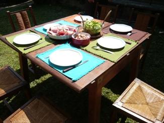 フレンチ・ピクニックのテーブル・セッティング1