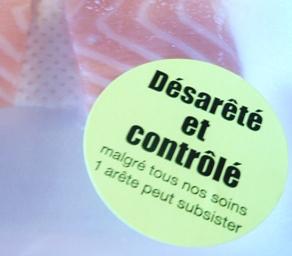 鮭の骨 フランスのパッケージ写真