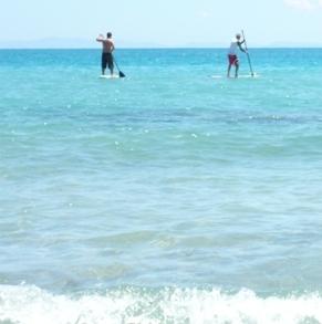チュニジアのパドルサーフィン