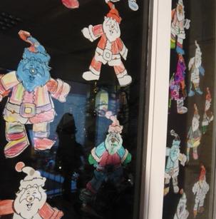 幼稚園のサンタさんの飾り2