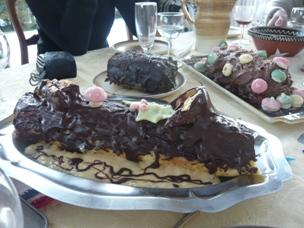 フランスの手作りクリスマス・ケーキ