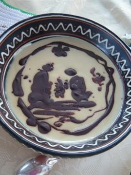 フランスのケーキ用ソース(クレッシュ柄)