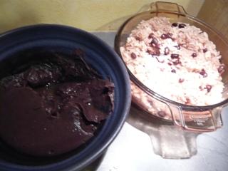 手作りお赤飯とあんこ
