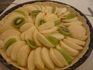 リンゴとキウイのタルト