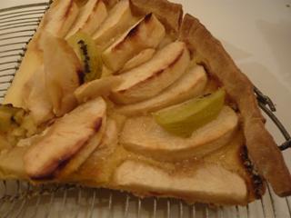 リンゴとキウイのタルト(切り分け図)