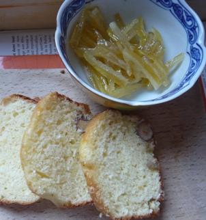 レモンピールとヘーゼルナッツのパウンドケーキ