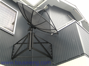 松戸市T邸 海外衛星放送受信アンテナ