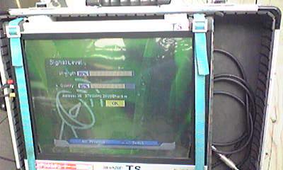 鎌ヶ谷市S邸 海外衛星放送受信レベル
