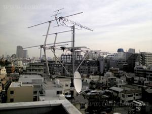 新宿区 SYビル 施工後アンテナ