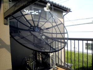 狛江市 M様邸 海外衛星放送受信アンテナ