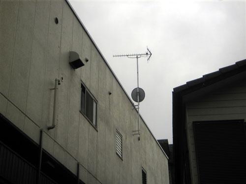 渋谷区 Sハイツ 地デジ・BS/CSアンテナ工事