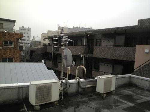 渋谷区 Sハイツ 既設アンテナの様子