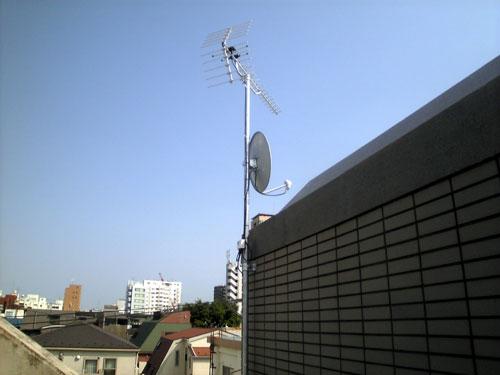 文京区 Yホームズ 地デジ・BS/CSアンテナ工事