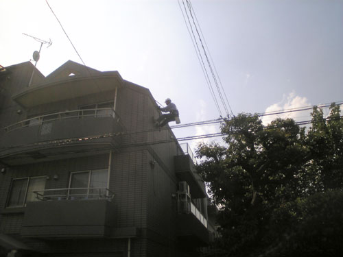 文京区 Yホームズ ロープアクセス