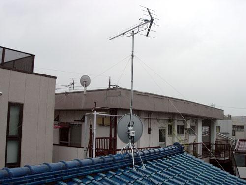 足立区 K様邸 地デジ・BS/CSアンテナ新設