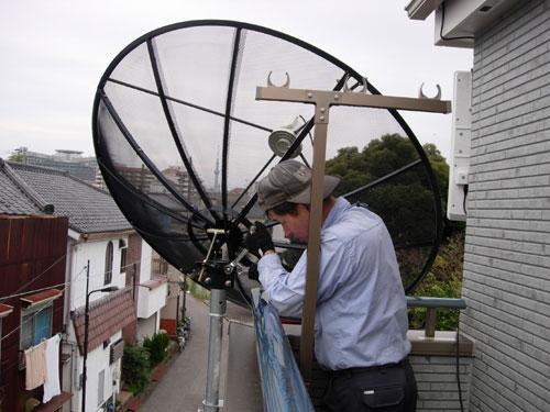 足立区)K様邸 海外衛星アンテナと地デジアンテナ新設
