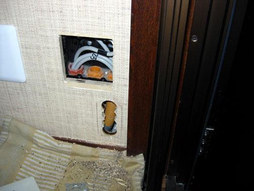 文京区)N様宅 貫通穴室内側