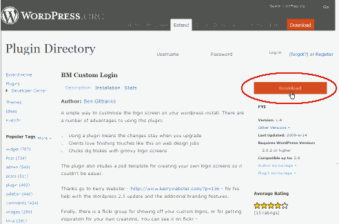 wordpress plugin(bm-custom-login)