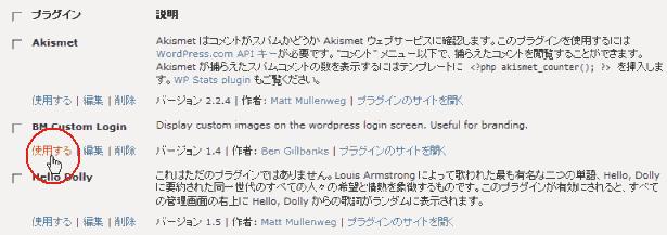 wordpress plugin(使用する)