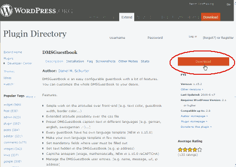 wordpress plugin(DMSGuestbook)