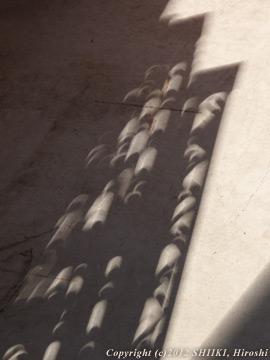 間接的部分日食(金環前)