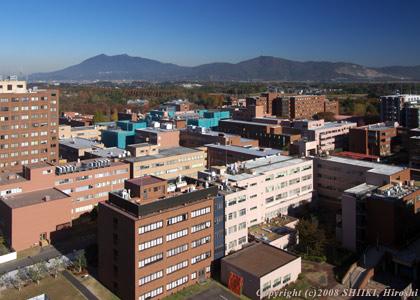 筑波大学から筑波山方向