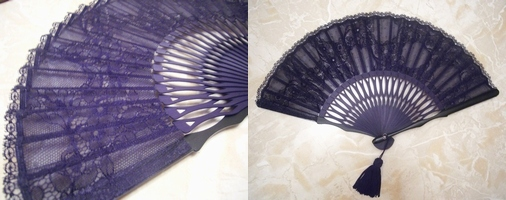 spanish laced fan made in Japan