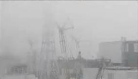 福島第一原発の3号機から、放射線量の高い湯気が上がっている