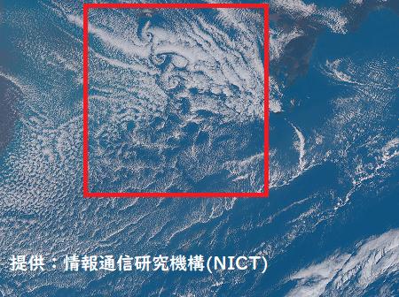 NICT衛星画像 カルマン渦