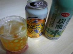 のどごし生&炭酸水(レモン味)