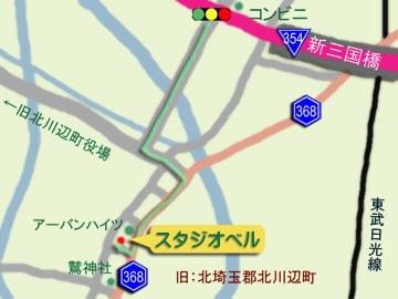 北川辺地図