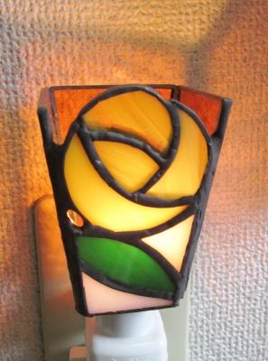 ステンドグラス フットランプ 黄色