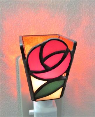 薔薇 バラ ステンドグラス体験教室 ランプ