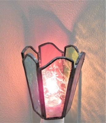 自由研究・工作 ステンドグラス ランプ