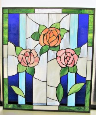 ステンドグラスバラ 薔薇 窓