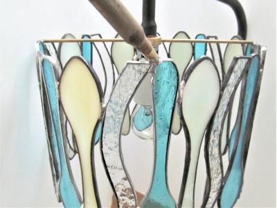 ステンドグラス ランプ スプーン 修理