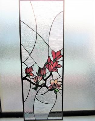 ステンドグラス 窓 木蓮 花