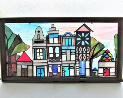 ステンドグラス 家 ハウス ヨーロッパ