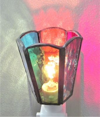 ステンドグラス教室 小学生 ランプ