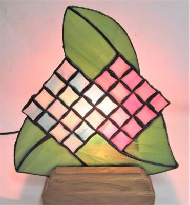 ステンドグラス 紫陽花 花