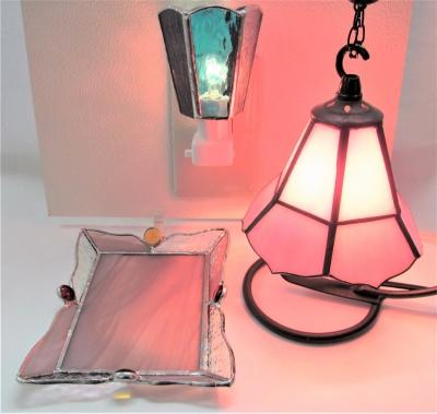 ステンドグラス体験教室 東京 ランプ
